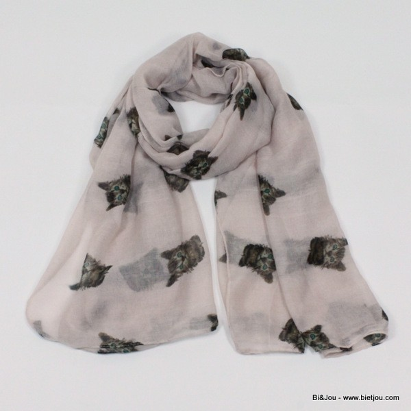 foulard motif animaux chat