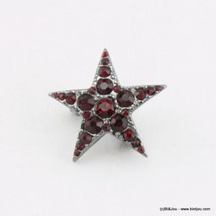 broche 0514512 rouge bordeaux