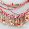 collier feuille 0115074 corail