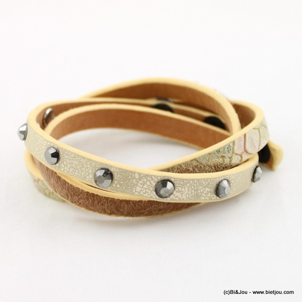 bracelet simili-cuir multi-tours 0215560