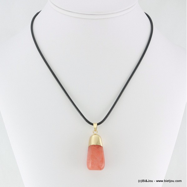 Collier pierre naturelle fantaisie