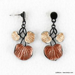 boucles d'oreille 0316512 marron