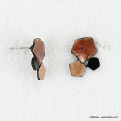 boucles d'oreille 0316514 marron