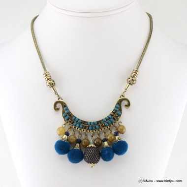 collier pompons ronds 0116624