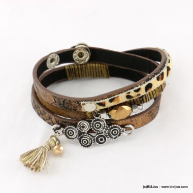 bracelet simili-cuir multi-tours 0216513