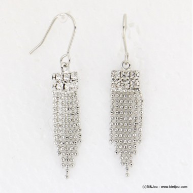 boucles d'oreille pendante fermoir crochet 0316648
