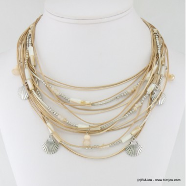 collier coquillage multi-rangs 0117020
