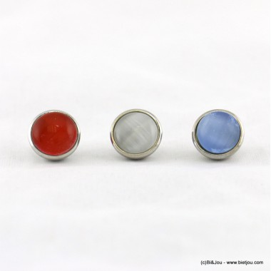 Lot de 3 perles colorées à visser 0617005.