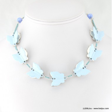 Collier multi-papillons 3D