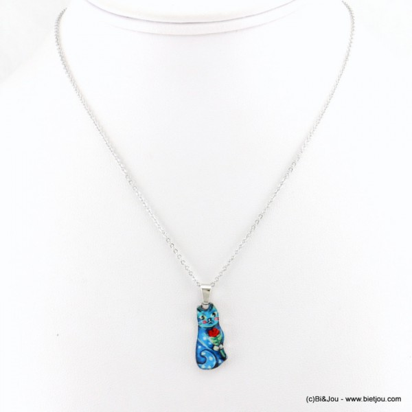 collier vintage chat 0117539
