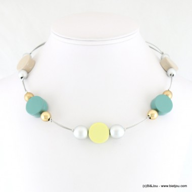 collier court pastilles pastel cables 0118028