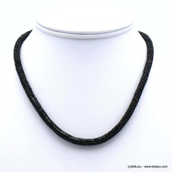 collier aimanté tube strass 0119635